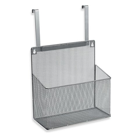 .ORG Metal Mesh Kitchen Cabinet Organizer Hung Over Cabinet Door or Mounted (1)