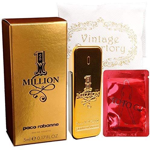Genuine PACO RABANNE 1 ONE MILLION EAU DE TOILETTE Miniature 5ml 0.7oz Mens Cologne HOMME Perfume Fragrance Parfum 100% AUTHENTIC NEW IN BOX ()