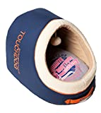 Cheap TOUCHDOG 'Active-Play' Exquisite Panoramic Designer Vintage Emblem Pet Dog Cat Bed w/ Built-in Teaser, One Size, Ocean Blue, Grey, Orange