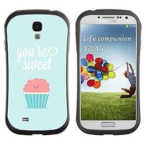 Paccase / Suave TPU GEL Caso Carcasa de Protección Funda para - you're so sweet cupcake pink blue - Samsung Galaxy S4 I9500