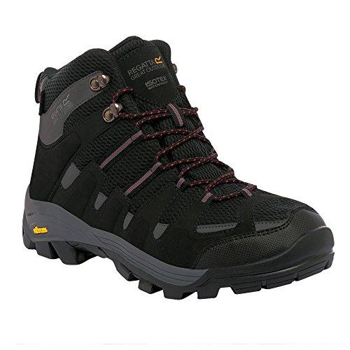 Regatta Mens Burrell Mid Waterproof Breathable Walking Boots Peat/Treetop