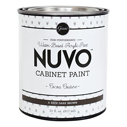 Nuvo Cabinet Paint (Cocoa Couture) Quart (Nuvo Cocoa Couture 1 Day Cabinet Makeover Kit)