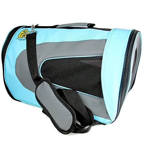 Soft-Sided Pet Travel Carrier (Airline Approved) for Cats, Small Dogs, Puppies and Other Pets by Pet Magasin (Large, Blue) - Replacement Dog Crate Handles