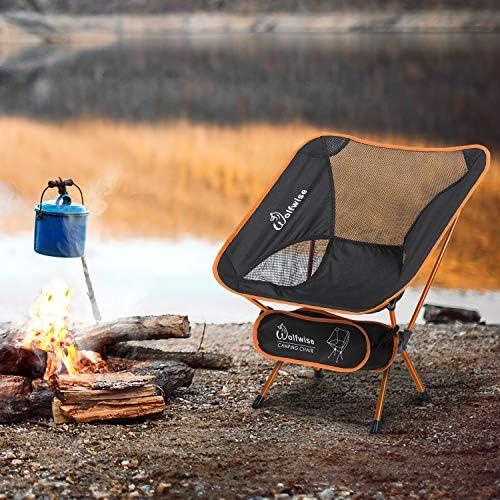 randonn/ée pique-nique plage barbecue Miuse Chaise de camping ultral/ég/ère pliable et portable pour camping