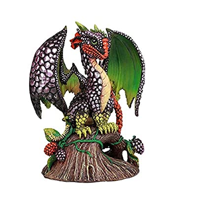 Pacific Giftware BlackBerry Garden Dragon by Stanley Morrison Home Decor Statue: Home & Kitchen