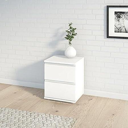 FINLANDEK Table de nuit KIIVAS contemporain blanc - L 40 cm ...