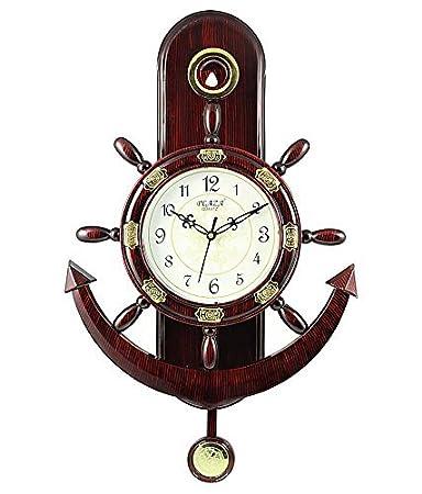 Buy Ravishing Plaza Brown Anchor Pendulum Wall Clock Online at Low