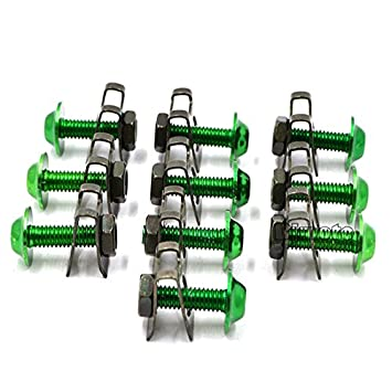ideales para el carenado de motos de motocross BJ Global Tornillos con tuerca de muelle de aluminio CNC M6 paquete de 10/unidades