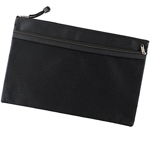 der Colors Double Layer Waterproof Oxford File Bag Document Paper Organizer(Black) ()