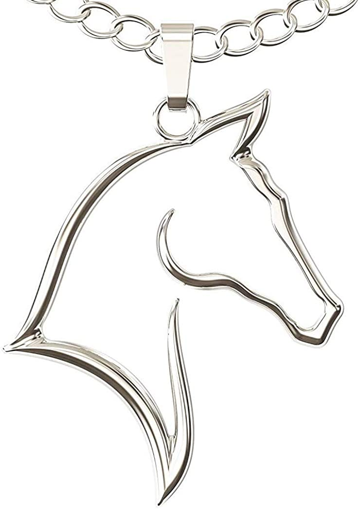 Horse Jewelry Horse Necklace Horse Gifts for Her. Equestrian Gifts Horseback riding Horse Necklace in Stainless Steel Horse charm