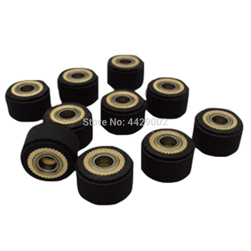 FINCOS 1/2/3/4/5/6pcs 5x11x16mm/4x10x14mm/3x11x16mm/4x11x16mm/5x10x16mm/4x10x16mm Pinch Roller Vinyl Plotter Cutter Cutting for Roland - (Color: 5pcs 5x11x16mm)