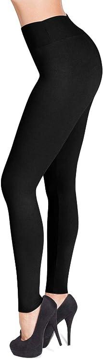 OS Solid BLACK YOGA Waist Leggings Plus or Extra Plus Fast Shipping!