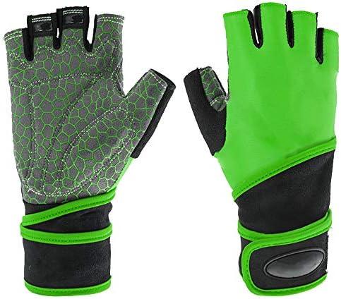 手袋 日常 実用 スポーツとフィットネスリストバンドロングハーフフィンガーグローブ (Color : Black, Size : XL)