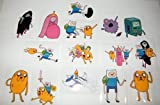 Adventure Time Jumbo Stickers Complete Set of 15 with Jake, Finn, Princess Bubblegum, The Ice King and More!