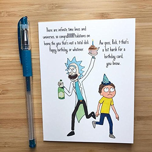 Rick and Morty Birthday Card