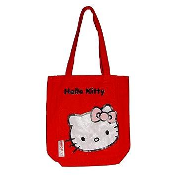 e96025253 Hello Kitty - Bolso de tela para mujer Rojo rojo: Amazon.es: Equipaje