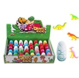 UTOPP 40pcs Newly Dinosaur Eggs Hatching Toy Growing Pet with Mini Dinosaurs Figures Inside Novelty Magic Toys Christmas Gift for Children