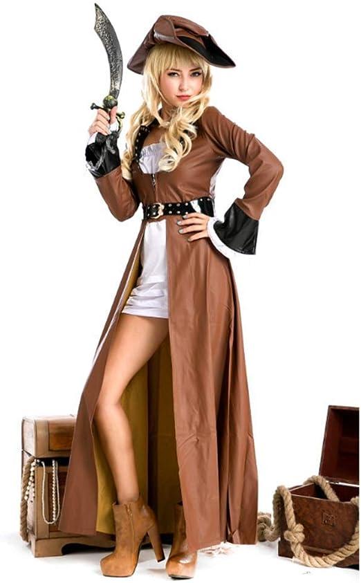 YyiHan Cosplay Disfraz, Gótico Pirata Reina Temperamento Vestir ...