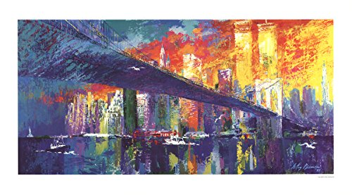 Leroy Neiman-Brooklyn Bridge-1986 Poster ()
