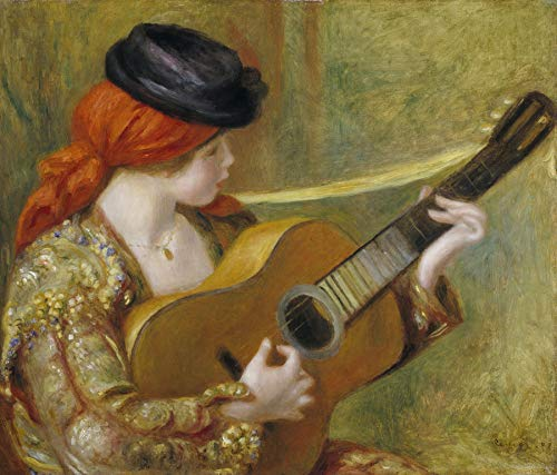 (Pierre-Auguste Renoir Young Spanish Woman with a Guitar National Gallery of Art 30
