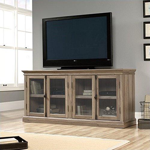 Sauder 414721 Barrister Lane Storage Credenza, For TV's up to 80'', Salt Oak finish by Sauder