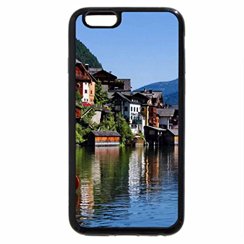 iPhone 6S / iPhone 6 Case (Black) Village on the riverbank