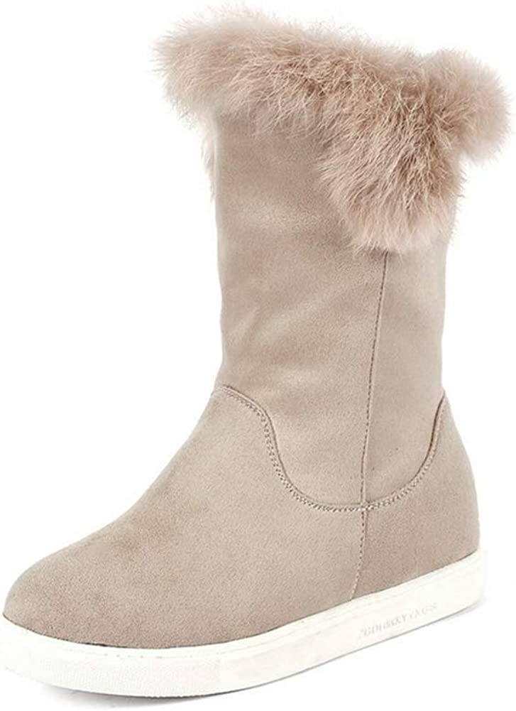 ChyJoey Women's Fluffy Winter Boots