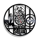 Suicide Squad Joker and Harley Queen Vinyl Record Wall Clock. Decor for your home room. Gift for girls, boys, man, women,kids, children. Leave a feedback for us