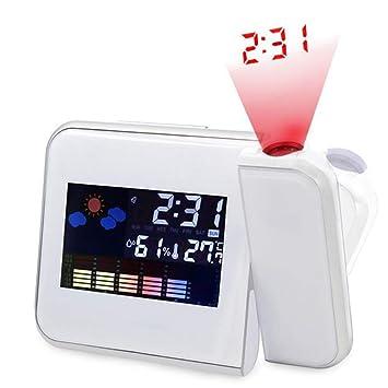 Reloj Despertador De Proyección Multifunción, Pantalla LED con ...