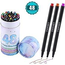 Bullet Journal Colored Fineliner Pens, Fine Tip Marker Fine Line Drawing Sketch Writing Pens Set of 48 for Journaling Planner Note Taking Calendar Coloring Art Projects