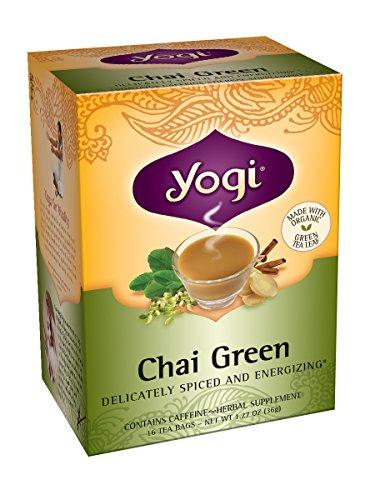 Yogi Chai thé vert, 16 sachets de thé (pack de 6)