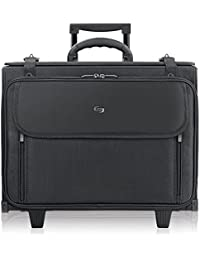 Morgan 17.3 Inch Rolling Laptop Catalog Case with Hanging File System, Black