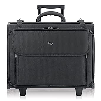 US Luggage Solo Classic Collection Ballistic Nylon Rolling Laptop Catalog Case Hanging File System Black SOLOD B151-4U2