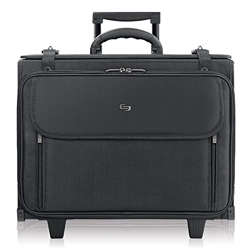 Solo Morgan 17.3 Inch Rolling Laptop Catalog Case with Hanging File System, Black by SOLO
