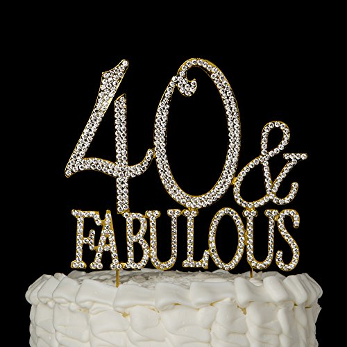 40-and-Fabulous-Cake-Topper-for-40th-Birthday-Gold-Party-Supplies-Decorations-40-Fabulous-Gold