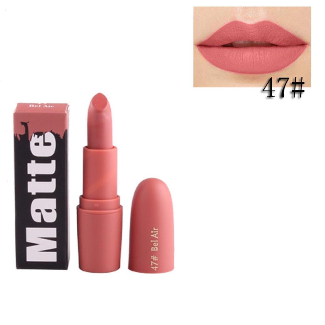 XUANOU Mini Portable Lipstick Moisturizer Smooth Lips Stick Long Lasting Charming Lip Lipstick (K)