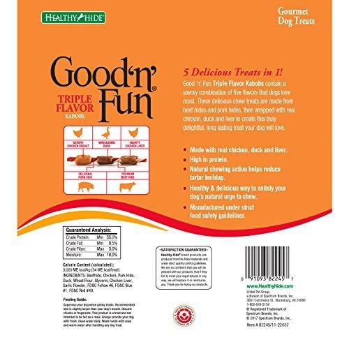 Good N Fun Triple Flavored Kabobs Rawhide Chews For Dogs