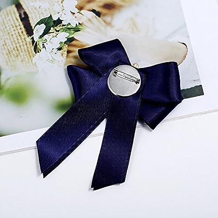 Schmuck f/ür Kinder 14.5 * 9cm blau Brosche mit Schleife und Kristallen f/ür Damen M/ädchen