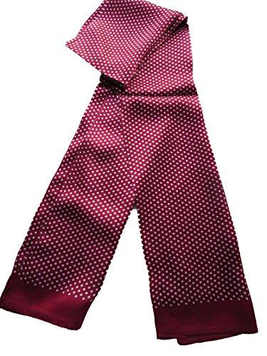 100% Silk Double Layer Men Scarf Neckerchief (Dot winer ()