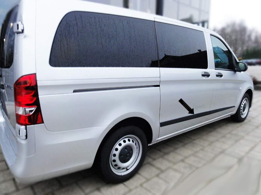 F52M Noir Spangenberg 370015201 Baguettes de Protection lat/érales pour Mercedes Benz Classe V Vito W447 /à partir de 03.2014