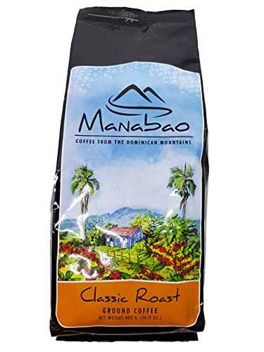 Manabao Gourmet Arabica Coffee - Dominican Premium ARTISANAL Ground Roasted, 400g bag