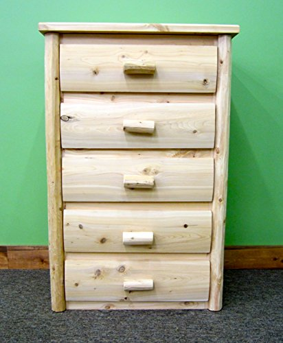 Midwest Log Furniture - Premium Log Dresser - 5 Drawer - Log Vanity