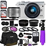 Canon EOS M100 Mirrorless Digital Camera (White) Premium...