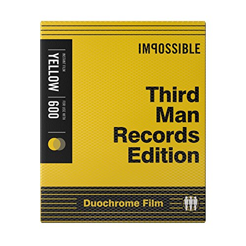 Impossible PRD-4158 Black/Yellow Duochrome Film (Third Man Records Edition) for Polaroid 600-Type Cameras
