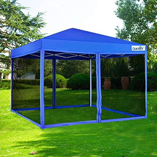 Quictent 10×10 Ez pop up Canopy Tent with Netting Screen House Mesh Screen Walls Waterproof ...