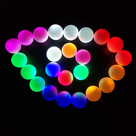 Faviye LED Enciende Pelotas de Golf 1PCS Pelota de Golf LED para ...