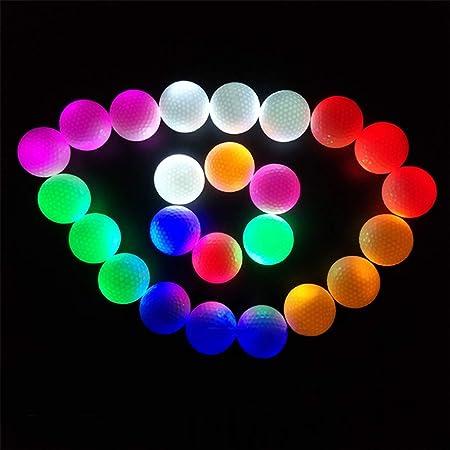 Holspe Bolas de Golf iluminadas por LED, Pelotas de Golf ...