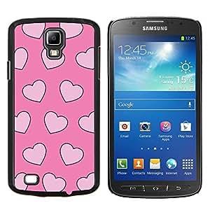 EJOOY---Cubierta de la caja de protección para la piel dura ** Samsung Galaxy S4 Active i9295 ** --valentín amor rosa corazones rosa xoxo
