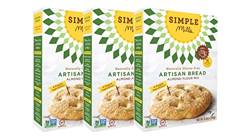 Simple Mills Almond Flour Mix, Artisan Bread, 10.4 oz, 3 count ()