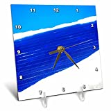 3dRose Alexis Photography - Seasons Winter - Snow covered solar power panel, blue sky - 6x6 Desk Clock (dc_265636_1)